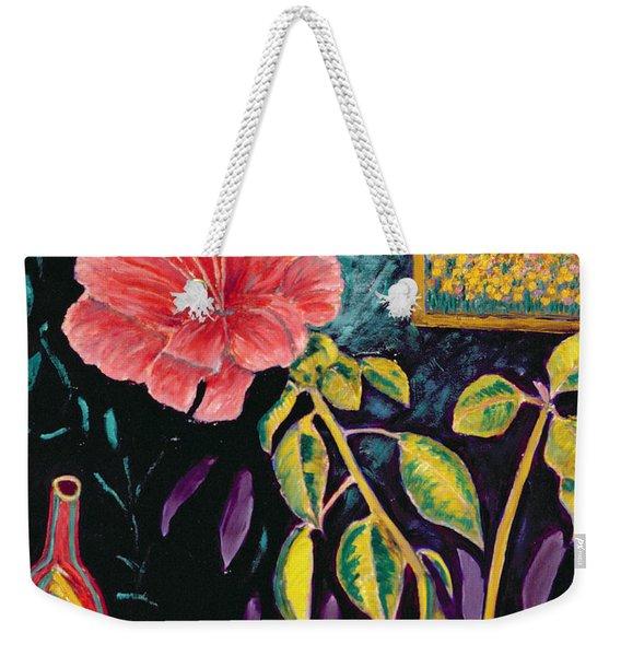 Hibiscus With Vase Weekender Tote Bag
