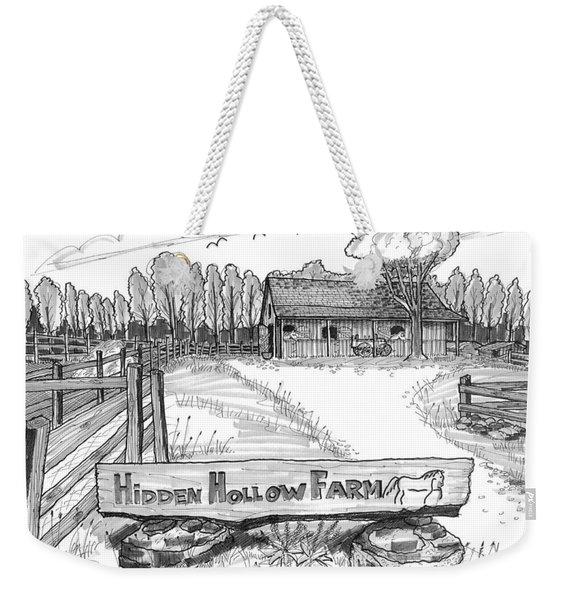 Hidden Hollow Farm 1 Weekender Tote Bag