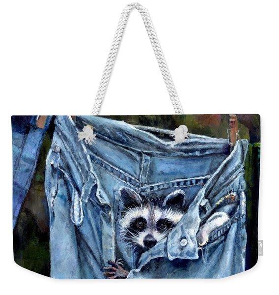 Hiding In My Jeans Weekender Tote Bag