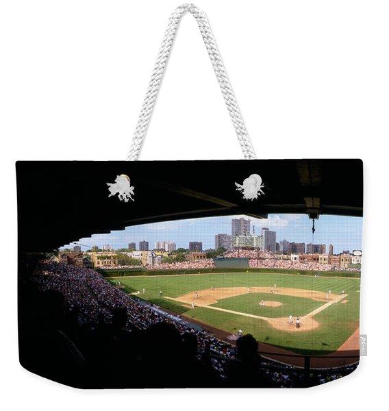 High Angle View Of A Baseball Stadium Weekender Tote Bag
