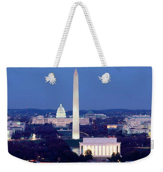 High Angle View Of A City, Washington Weekender Tote Bag