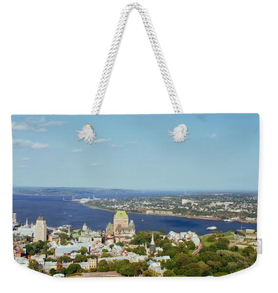 High Angle View Of A Cityscape, Chateau Weekender Tote Bag