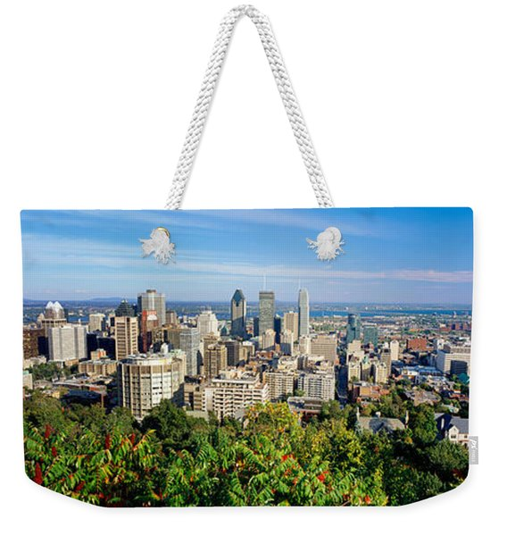 High Angle View Of A Cityscape, Parc Weekender Tote Bag