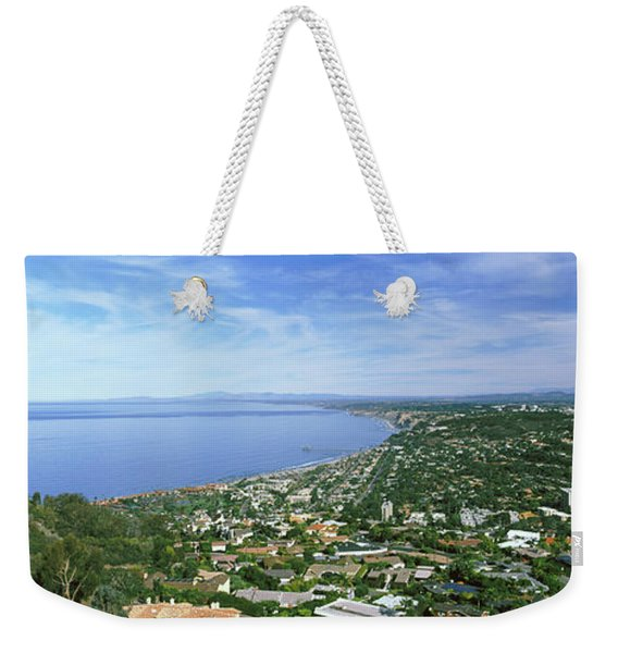 High Angle View Of A Town, La Jolla Weekender Tote Bag