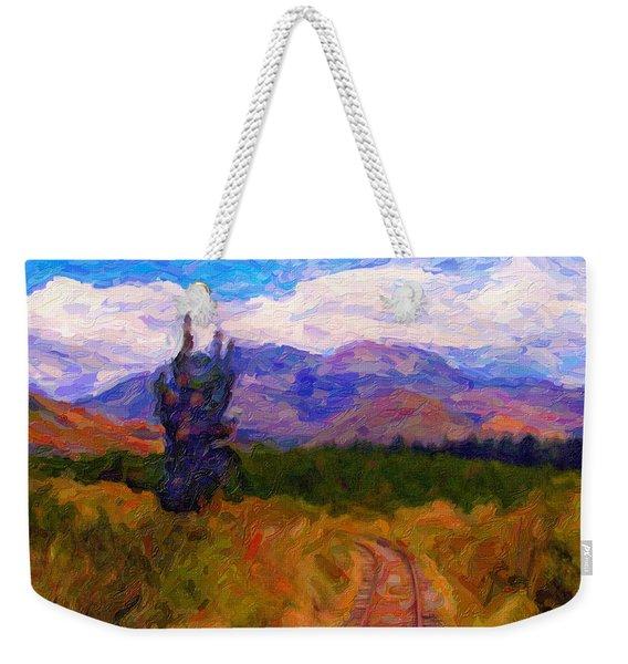 High Country Tracks Weekender Tote Bag