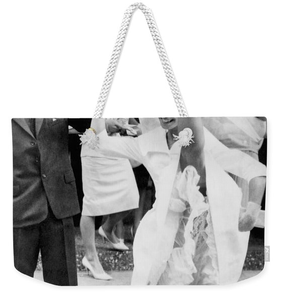 High Kicking Bride Weekender Tote Bag