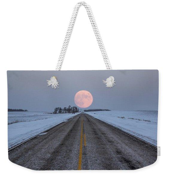 Highway To The Moon Weekender Tote Bag
