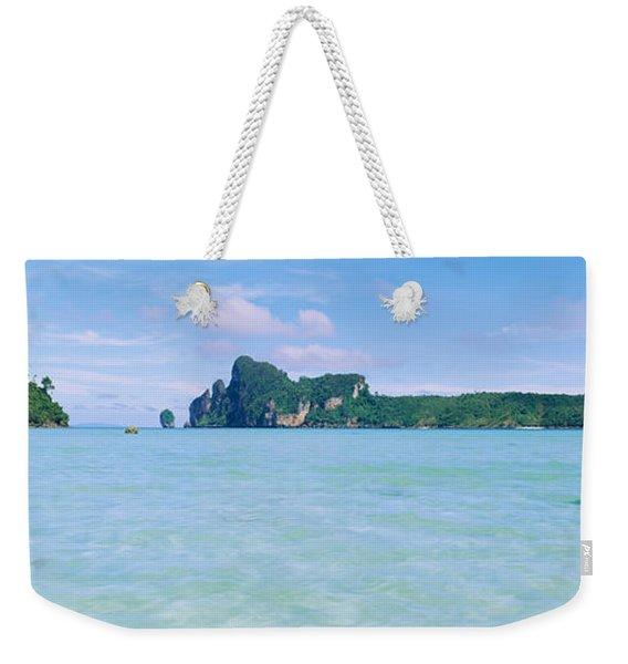 Hills In The Ocean, Loh Dalum Bay, Ko Weekender Tote Bag