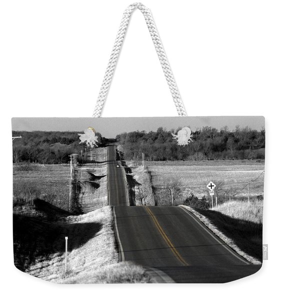 Hilly Ride Weekender Tote Bag