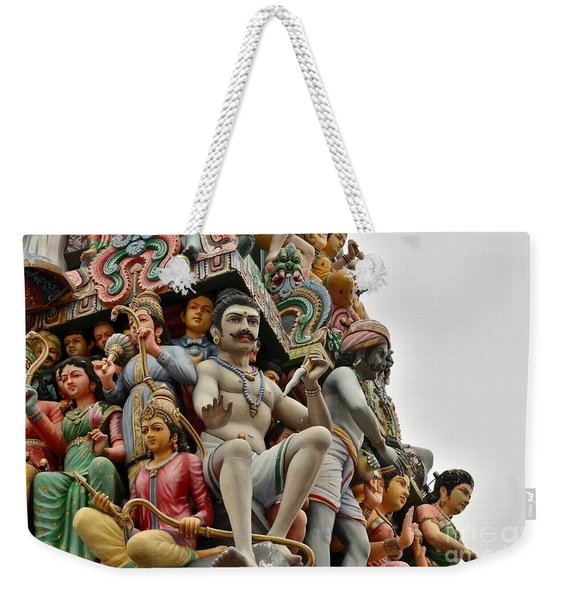 Hindu Gods And Goddesses At Temple Weekender Tote Bag