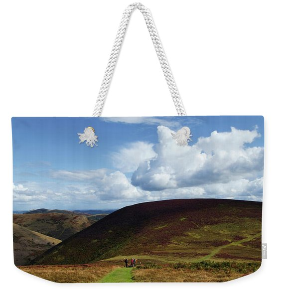 Hiokers On The Track Between Round Hill Weekender Tote Bag
