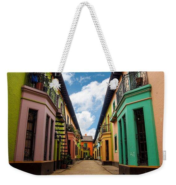 Historic Colorful Buildings Weekender Tote Bag