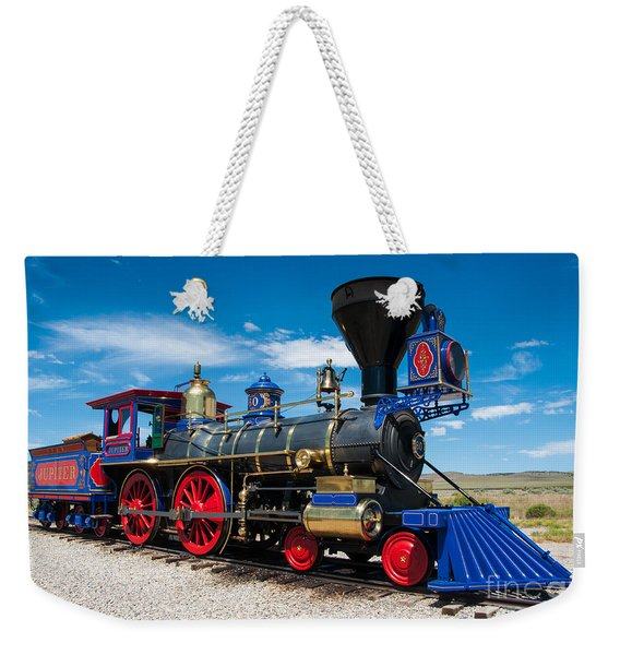 Historic Jupiter Steam Locomotive - Promontory Point Weekender Tote Bag