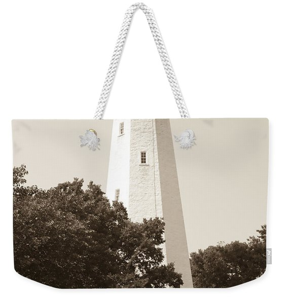 Historic Sandy Hook Lighthouse Weekender Tote Bag