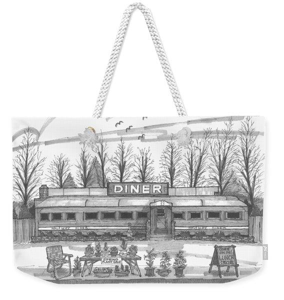 Historic Village Diner Weekender Tote Bag
