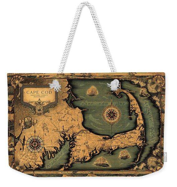 Historical Map Of Cape Cod Weekender Tote Bag