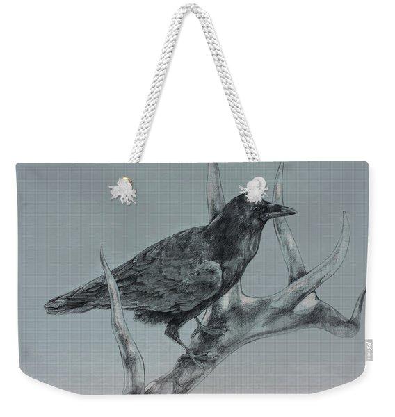 Hitchhiker Drawing Weekender Tote Bag