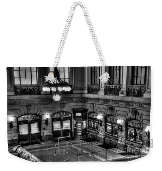 Hoboken Terminal Waiting Room Weekender Tote Bag