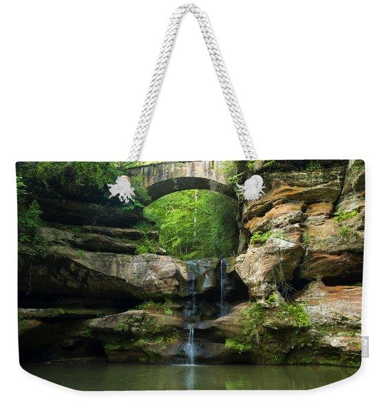 Hocking Hills Waterfall 1 Weekender Tote Bag