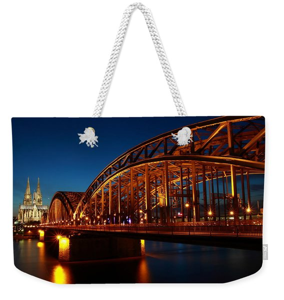Weekender Tote Bag featuring the photograph Hohenzollern Bridge by Mihai Andritoiu