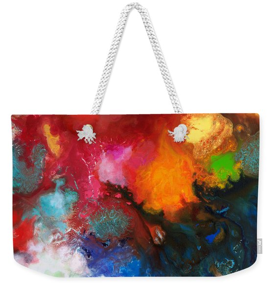 Holding The High Watch Canvas Three Weekender Tote Bag