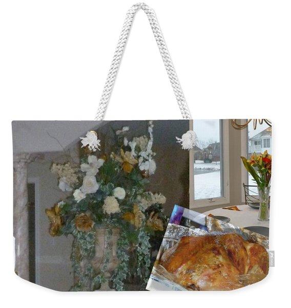 Holiday Collage Weekender Tote Bag