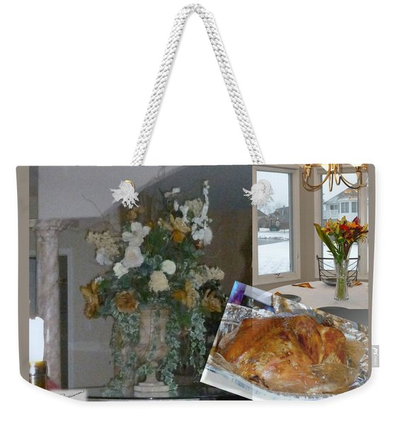 Holiday Collage Weekender Tote Bag
