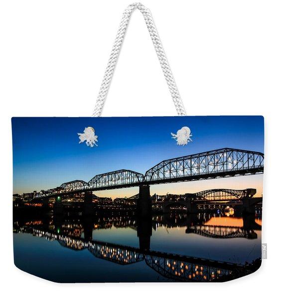 Holiday Lights Chattanooga Weekender Tote Bag