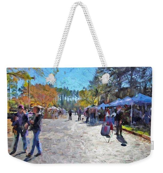 Holiday Market Weekender Tote Bag