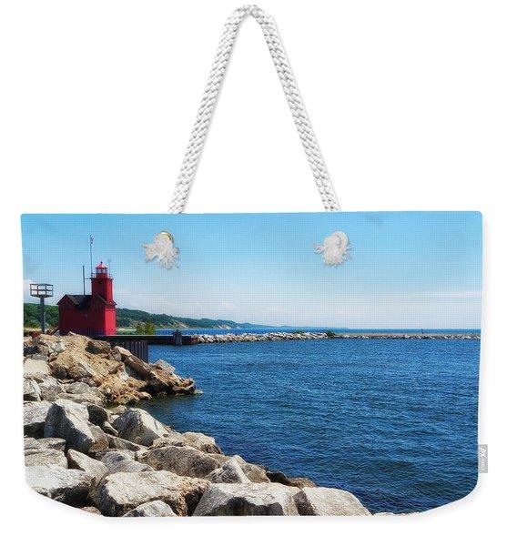 Holland Harbor Light Weekender Tote Bag