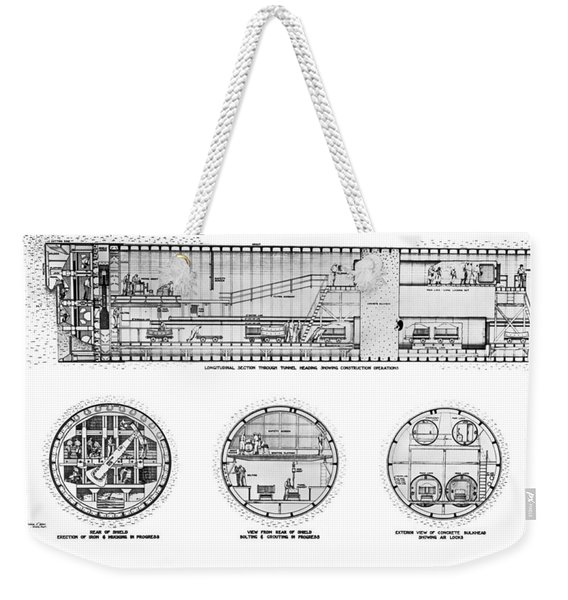 Holland Tunnel Construction Weekender Tote Bag