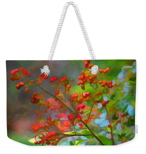 Holly Berry Weekender Tote Bag
