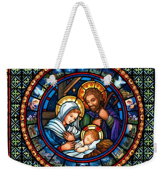 Holy Family Christmas Story Weekender Tote Bag
