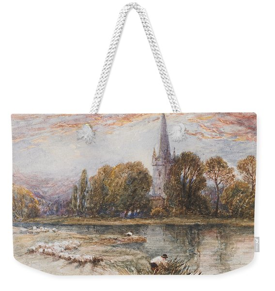 Holy Trinity Church On The Banks If The River Avon Stratford Upon Avon Weekender Tote Bag