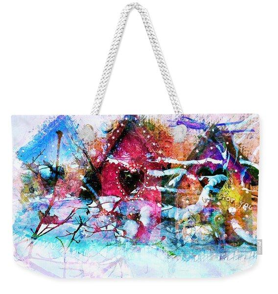 Home Through All Seasons Weekender Tote Bag