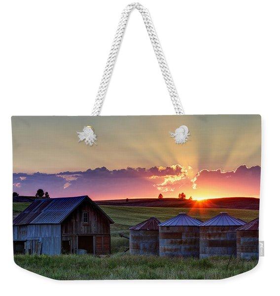 Home Town Sunset Weekender Tote Bag