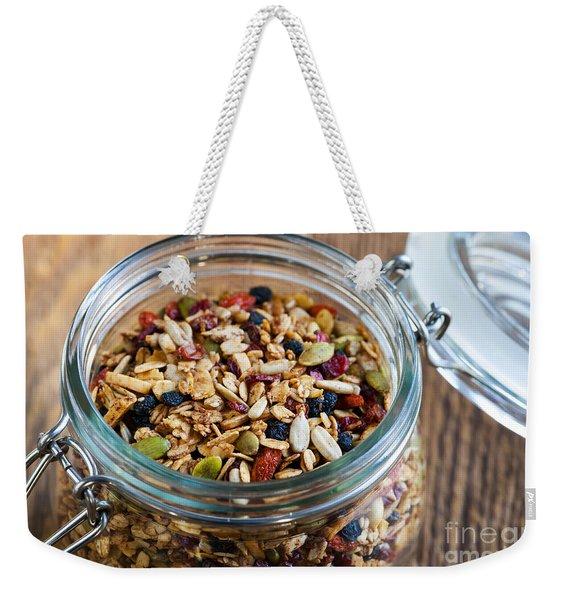 Homemade Granola In Open Jar Weekender Tote Bag