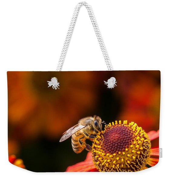 Honeybee At Work Weekender Tote Bag
