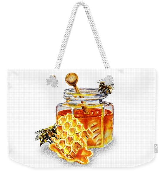 Honeycomb With Honey Jar Weekender Tote Bag