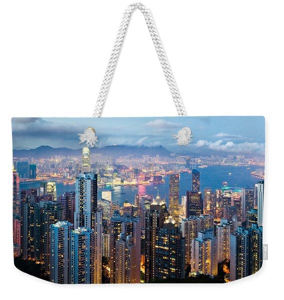 Hong Kong At Dusk Weekender Tote Bag