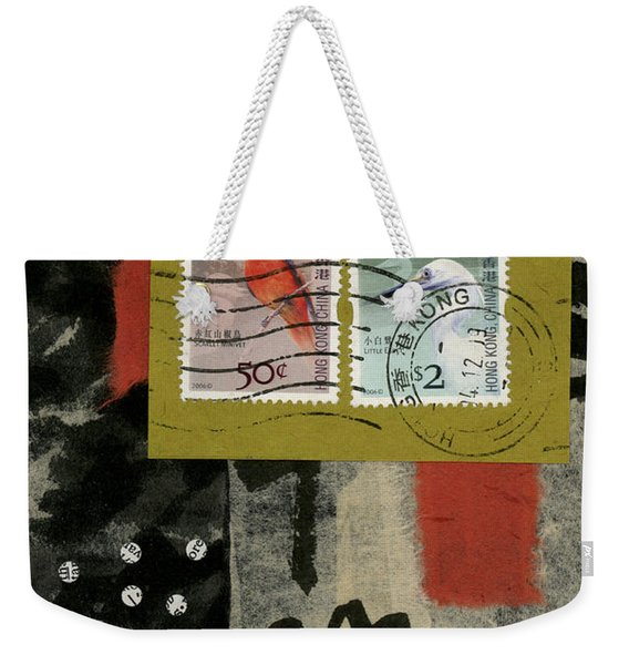 Hong Kong Postage Collage Weekender Tote Bag