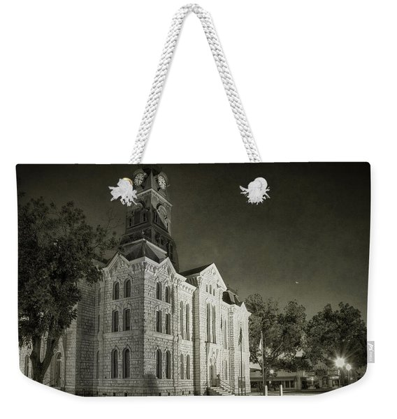 Hood County Courthouse Weekender Tote Bag