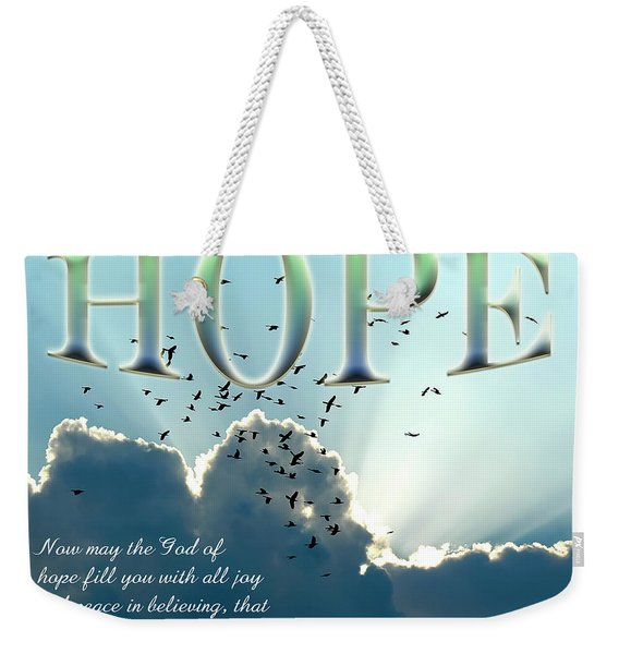 Weekender Tote Bag featuring the photograph Hope by Carolyn Marshall