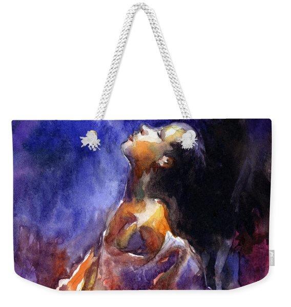 'hope' Woman Portrait  Weekender Tote Bag