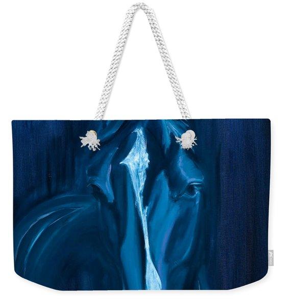 horse - Apple indigo Weekender Tote Bag