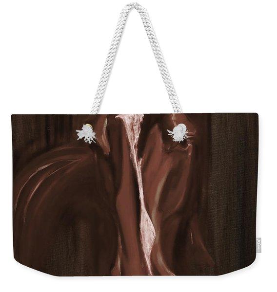 Horse Apple Warm Brown Weekender Tote Bag
