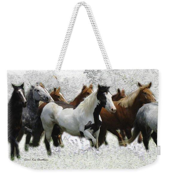 Horse Herd #3 Weekender Tote Bag