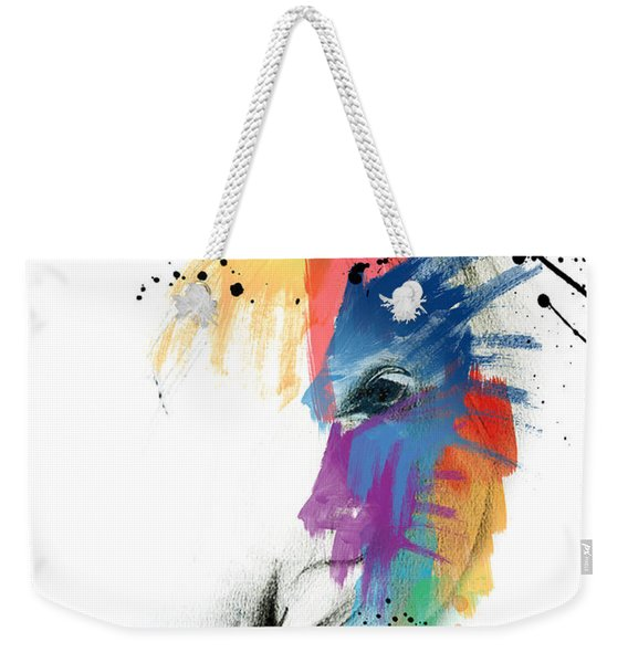 Horse On Abstract   Weekender Tote Bag