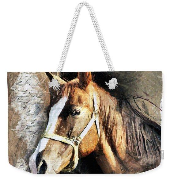 Horse Portrait - Drawing Weekender Tote Bag