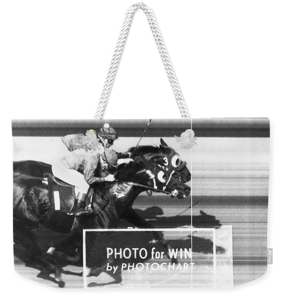 Horse Race Has Photo Finish Weekender Tote Bag